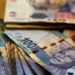 stacks of south african rand