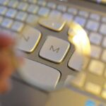 a loseup of a keyboard