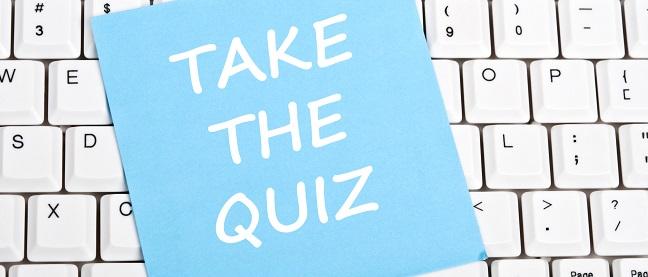 take a quiz sign