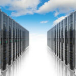 a long row of servers