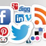 various social media icons